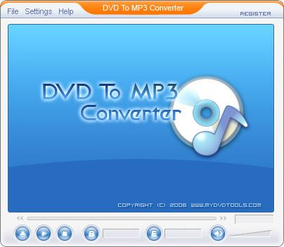 DVD To MP3 Ripper 1.00.1 Screenshot