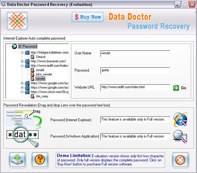 IE Password Recovery 3.0.1.5 Screenshot