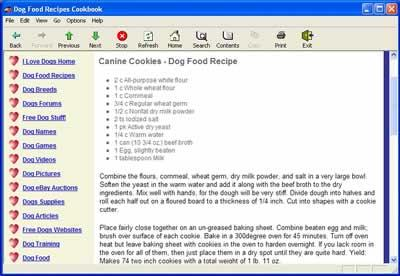Dog Food Recipes Cookbook 1.1 Screenshot