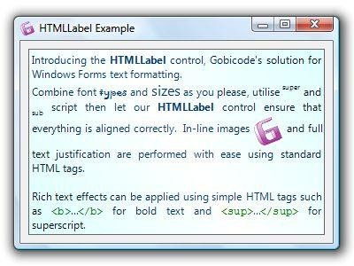 HTMLLabel for Windows Forms 1.06 Screenshot