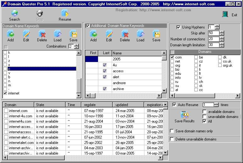Domain Quester 6.02 Screenshot