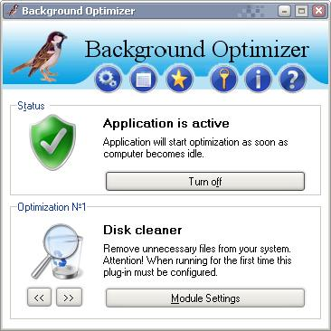 Background Optimizer 1.4 Screenshot