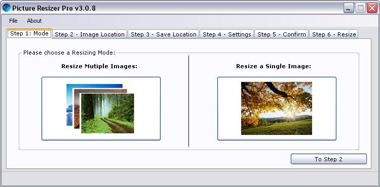 Picture Resizer 3.1.4 Screenshot